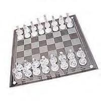 14 x 14 Large Glass Chess Set  100% SOLID GLASS CHESS SET (Set Weighs 7 Lbs!) Terrific For Birthday Gifts, Christmas Presents, Corporate Gifts Etc